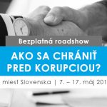 Ako sa chrániť pred korupciou? Bezplatná roadshow Avris